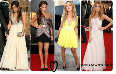 Voici quelques ROBES d'Ashley Tisdale =)