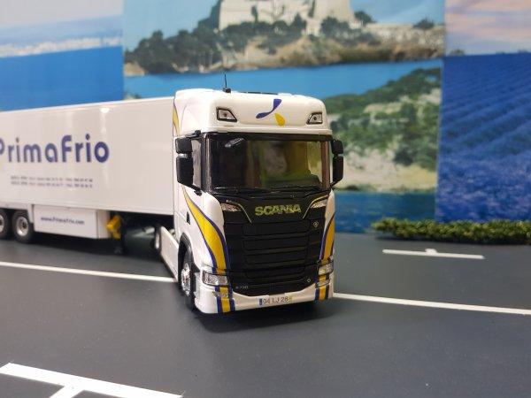 SCANIA S.730 V8 ET FRIGO KRONE DUOPLEX TRANSPORTS PRIMAFRIO UN MODELE ELIGOR