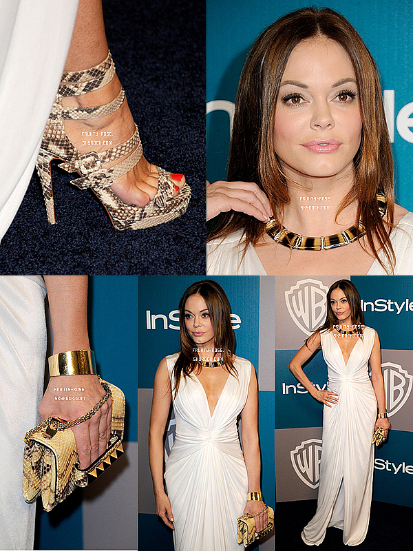 . 15 jan 2012 - Rose était au 13th Annual Warner Bros. And InStyle Golden Globe Awards After Party .