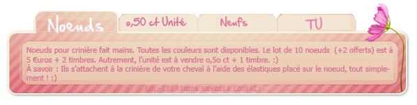 ↓ Gnl-Creations © - Noeuds pour crinières.