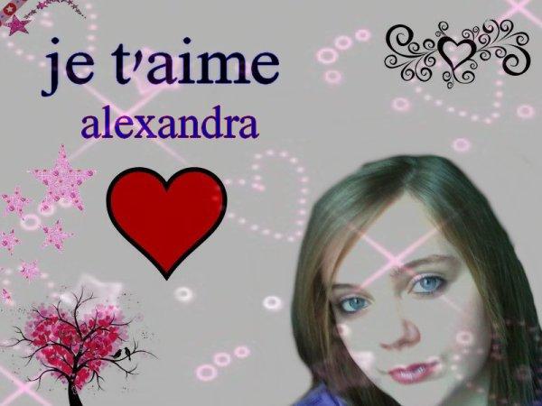 je t'aime alexandra