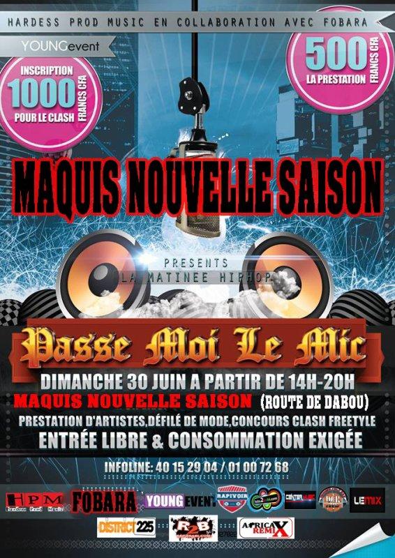 Concert HIP HOP YOP(maquis NOUVELLE SAISON)route de DABOU
