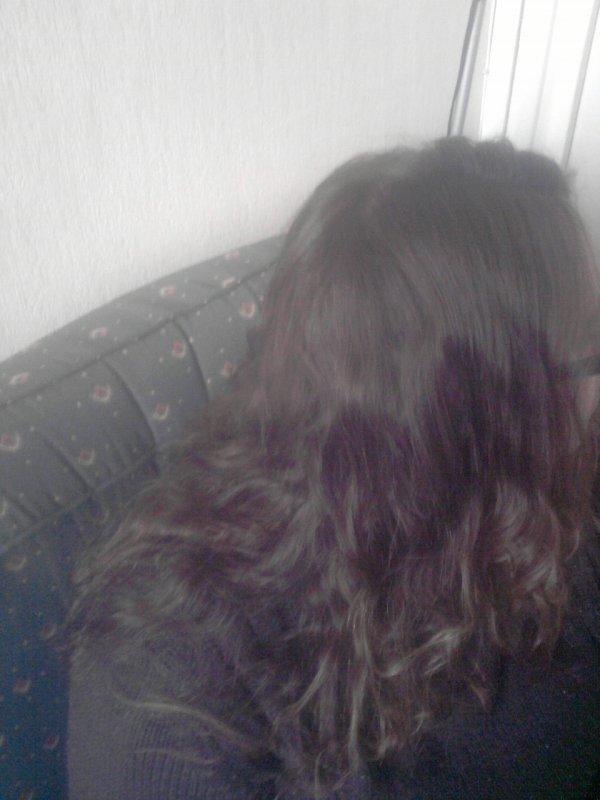 mes cheveu kan j'ai fai natte collé