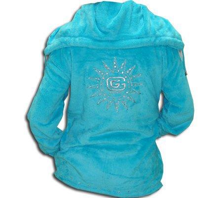 veste en polaire ou poulidou bleu turquoise