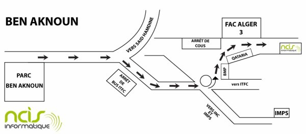 schéma pour notre boutique de ben aknoun