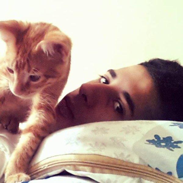 Avec mon chat Rugerro