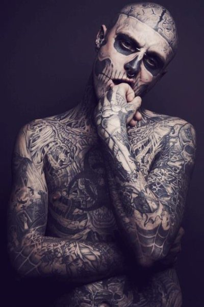 I'm totally in love with him ♥ Rick Genest.