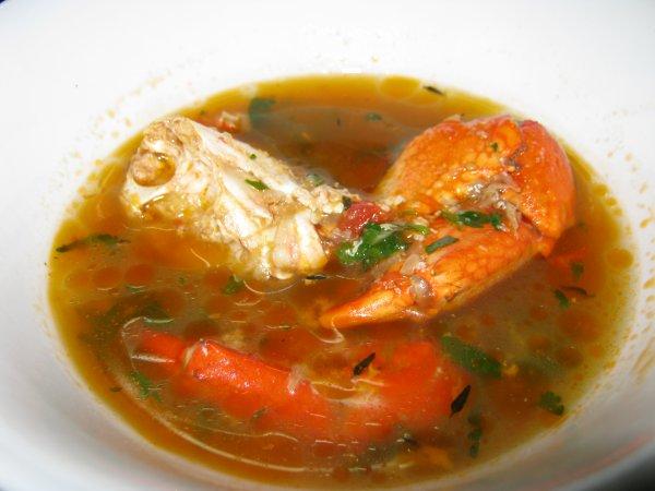 Bouillon de crabes à la mauricienne