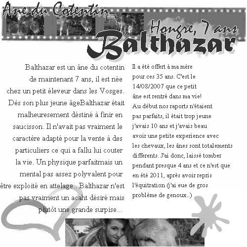 Balthazar. . . et moi!