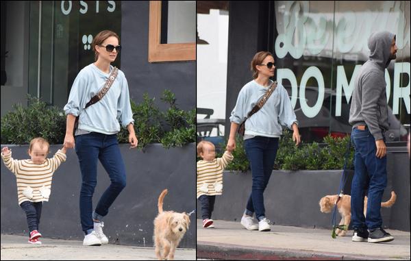 25.05.2018 : Natalie était avec son mari Benjamin Millepied et sa fille Amalia qui fait ses premiers pas à  Los Feliz