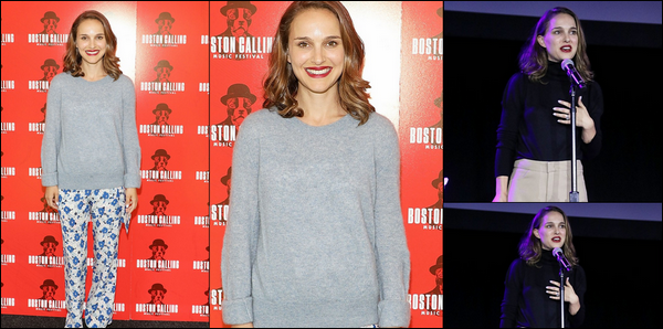 "26.05.2018 : Natalie Portman magnifique assistait au ""Boston Calling Music Festival"" dans la ville de Boston"