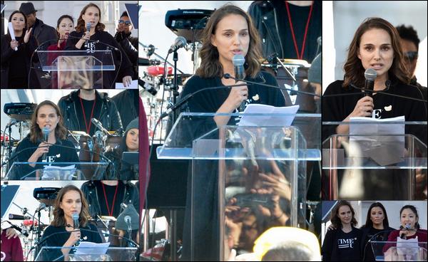 """20.01.2018 : Natalie était à la """"Women's March"""", manifestation qui dénonce les armes à feu à  Los Angeles"""