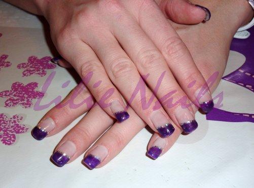 French violette pailletée et strass