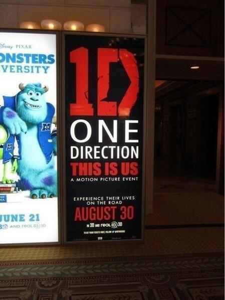 Une première affiche publicitaire pour le film des One Direction, This Is Us