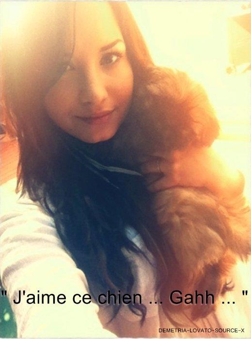 Demi a posté ces photos sur son twitter avec des commentaires