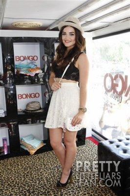 Lucy le 23 juin a new york pour un évenement de la marque bongo