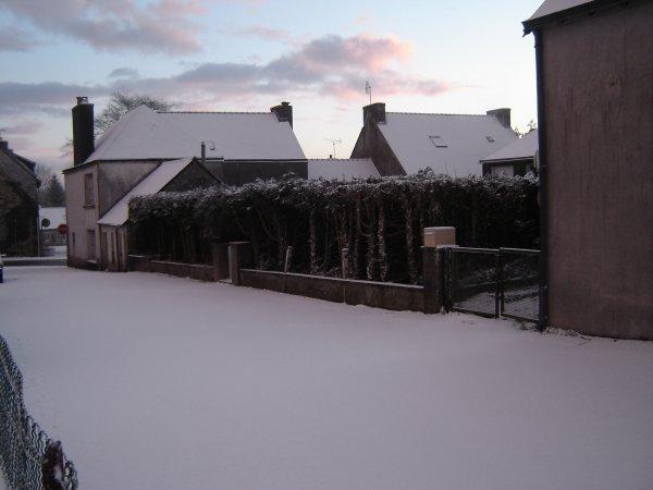 La neige en Bretagne !
