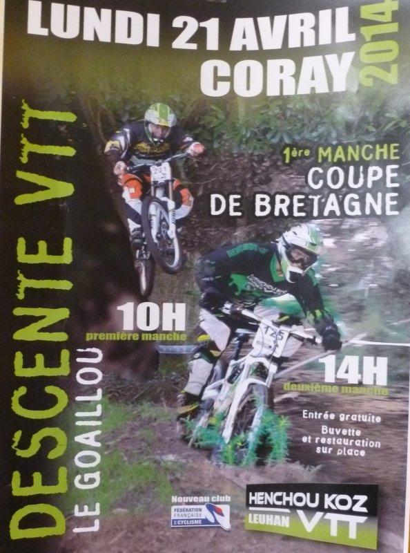 CORAY  : Descente VTT.