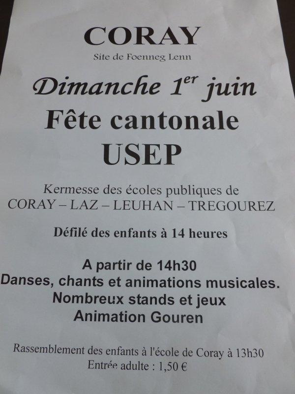 CORAY : Kermesse Dimanche 1er JUIN