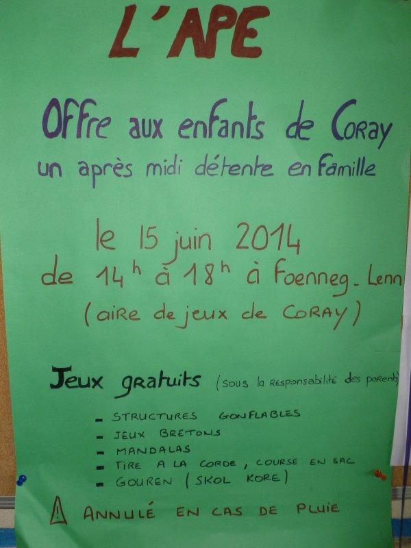 CORAY   : Fête des familles.