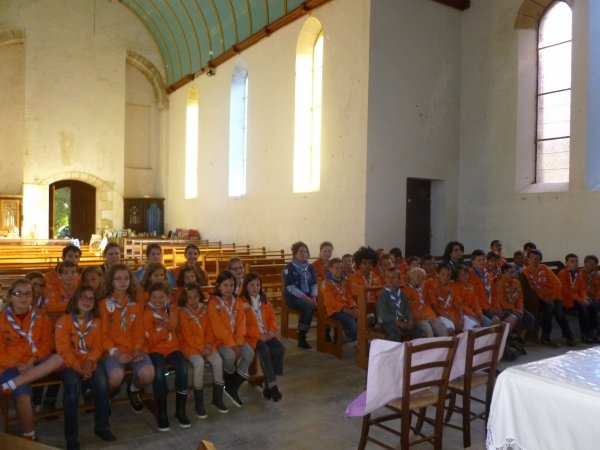 LEUHAN : Les scouts de FRANCE à Lourdes.(1)