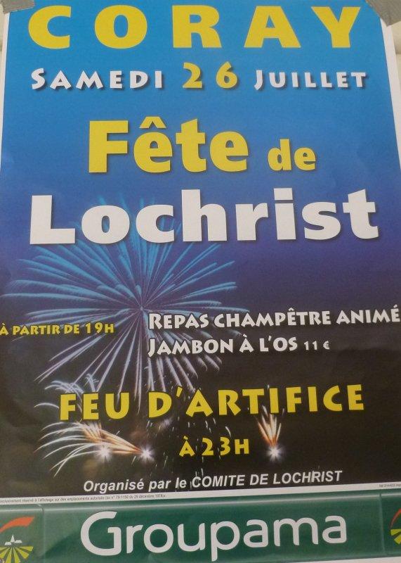 CORAY  : Samedi 26 Juillet Fête de Lochrist