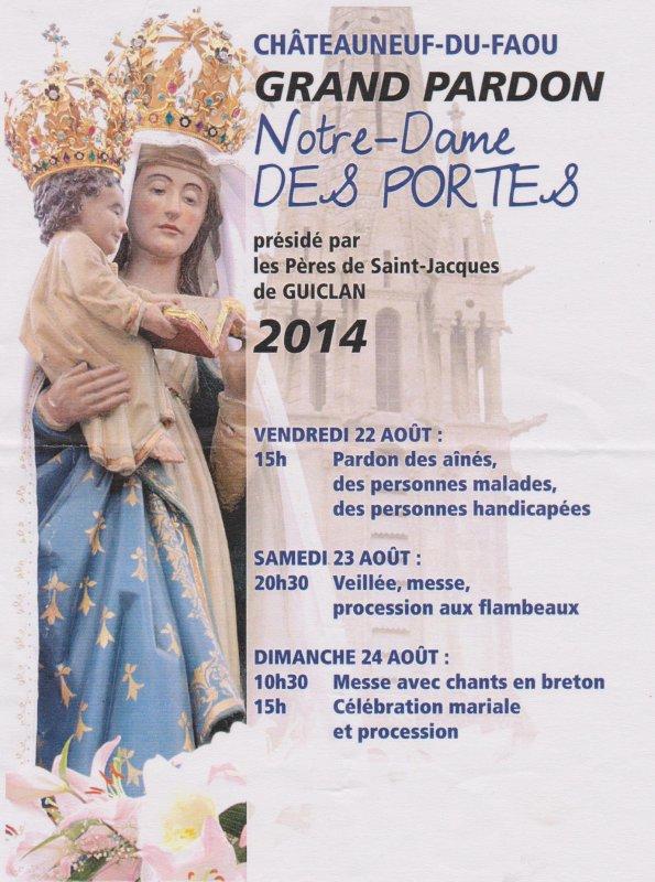 Chateauneuf du Faou : Grand Pardon de Notre-Dame des Portes.