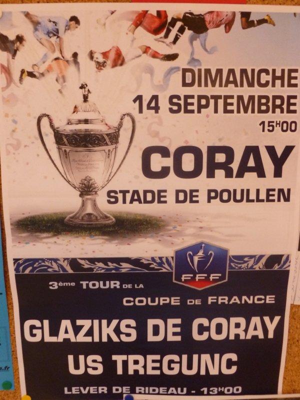 CORAY  : Dimanche 3 ème tour de la Coupe de France