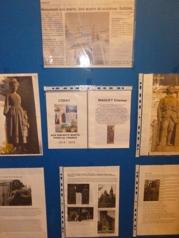 CORAY  : Exposition centenaire de la Grande Guerre.