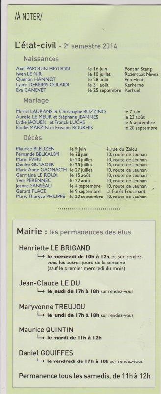 CORAY  : Bulletin municipal.(n°37)