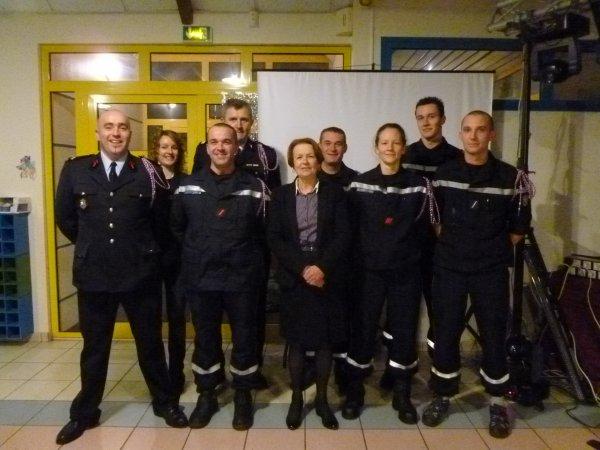 CORAY  : Les Sapeurs-Pompiers fêtent la Sainte Barbe.