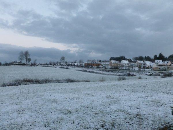 CORAY  : La neige ce mercredi au réveil.