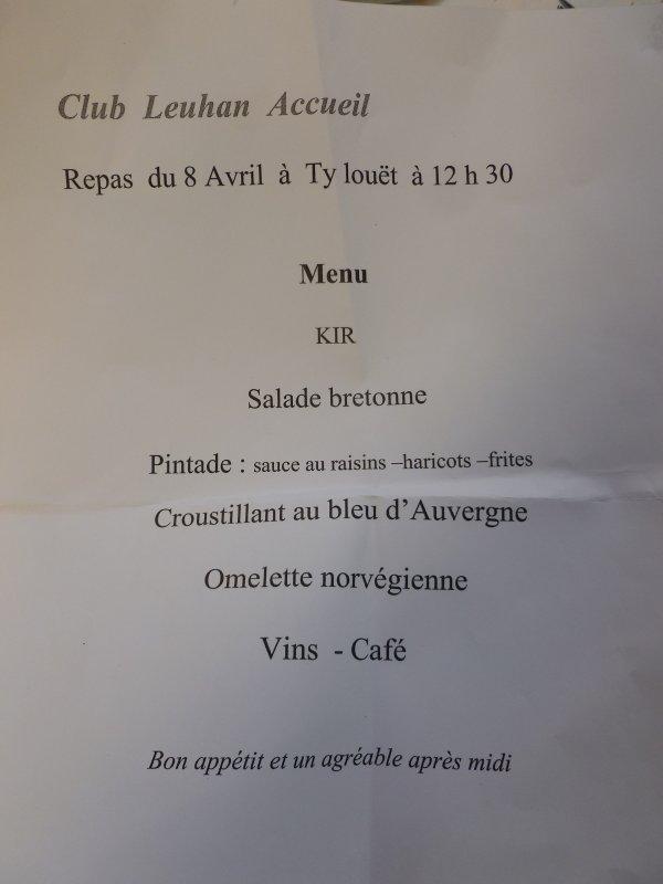 LEUHAN : Repas annuel de Leuhan-Accueil.