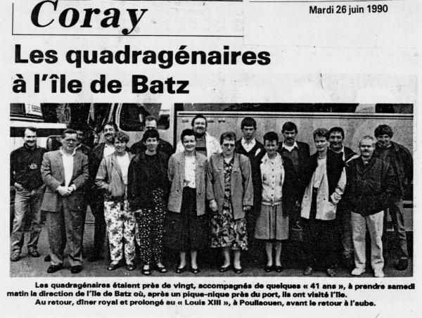 CORAY : Souvenir :Sortie de classes.