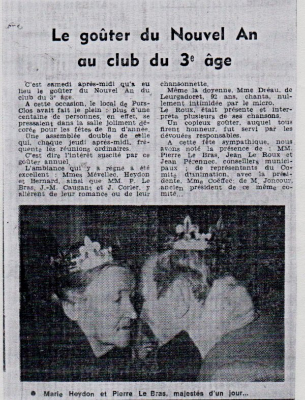 CORAY : Il était une fois le Club de Pors-Clos. (2)