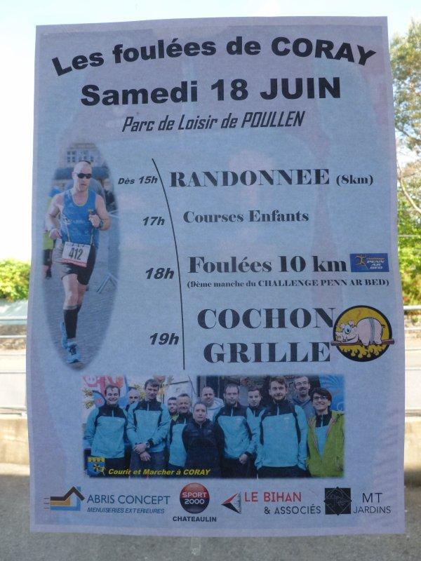 CORAY  : Les Foulées samedi 18 juin.