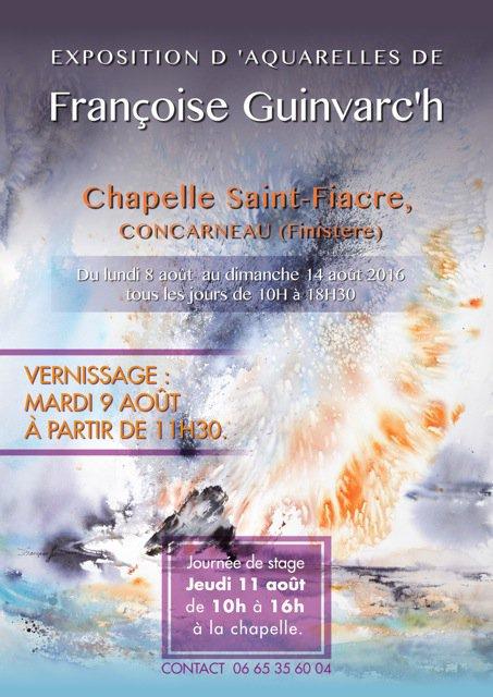 CORAY : Exposition de Françoise Guinvarc'h.