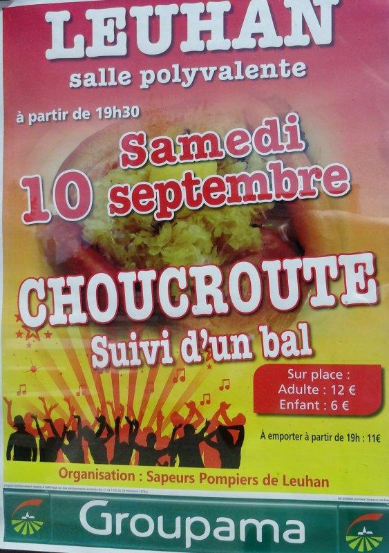 LEUHAN : Repas choucroute.