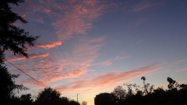 CORAY  : Coucher de soleil