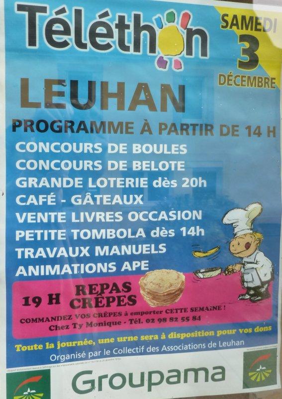 LEUHAN : Samedi 3 décembre le Téléthon.(1)