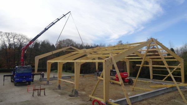CORAY : Construction du boulodrome  (1)