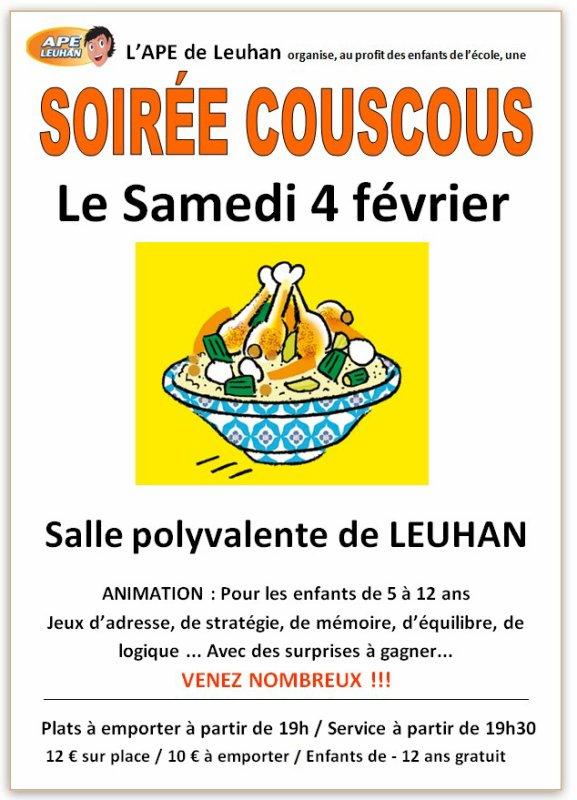 LEUHAN : Couscous de l'APE.
