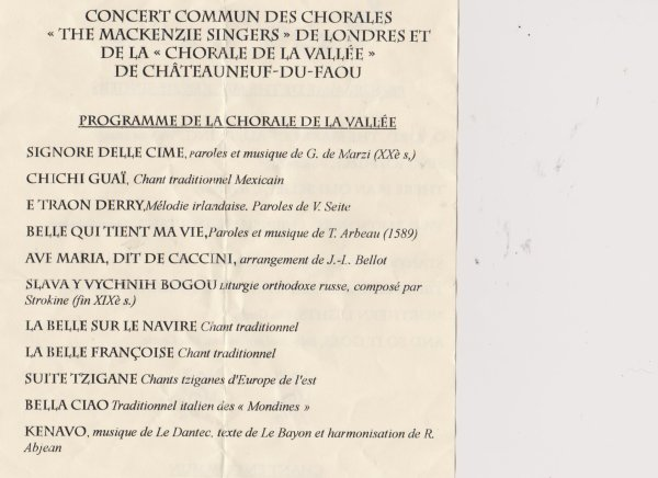 LEUHAN  : Concert de chorales.(1)