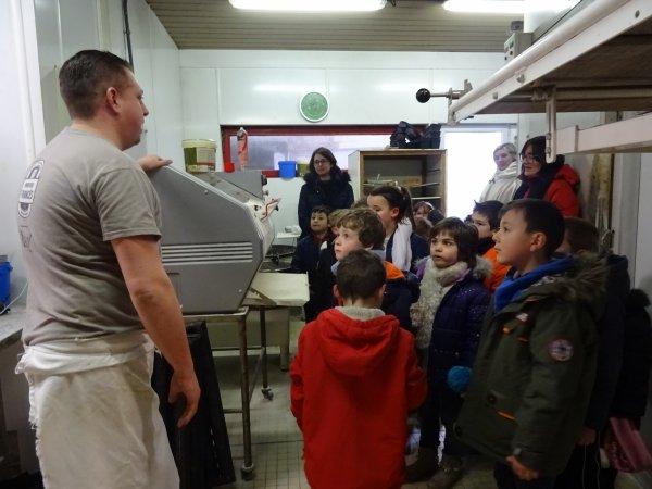 CORAY : Visite à la boulangerie.