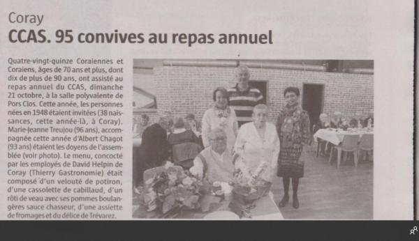 CORAY : Repas des Anciens de 70 ans et plus ..