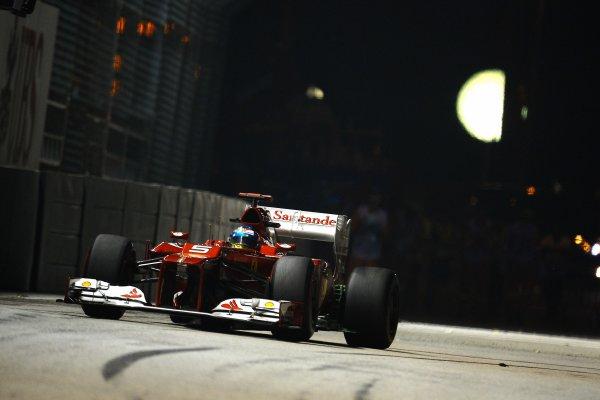 Grand Prix de Singapour de Formule 1     Fernando Alonso vise la pole et la victoire.