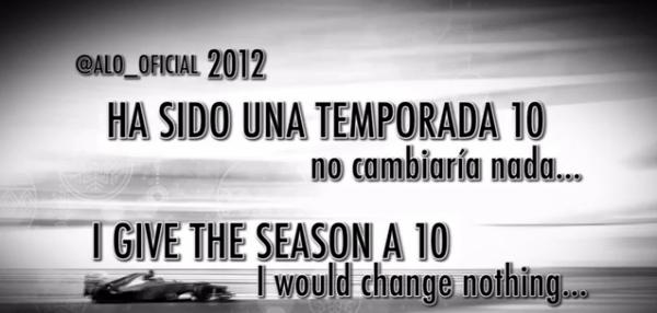 Fernando Alonso vous souhaite de Bonne Fête de fin d'année.    (+) La Webmiss vous souhaite également un bon Noel.