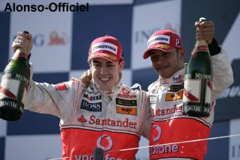 Fernando Alonso et Lewis Hamilton    Ils se sont détester pour mieux s'aimer.