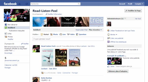 Read-Listen-Feel est sur Facebook