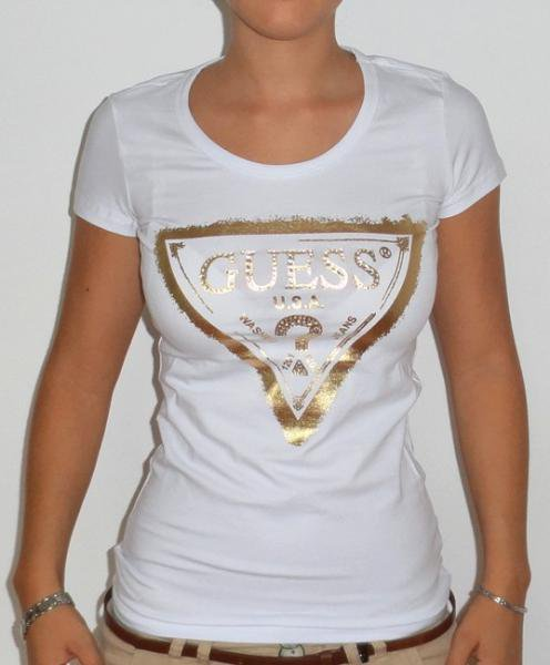 Tee-shirt Guess Blanc Taille S - 20FDPC -